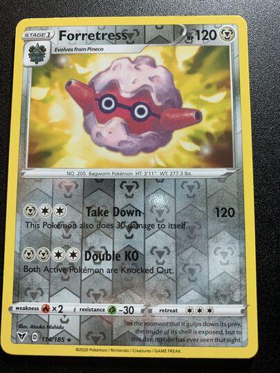 Forretress 114/185 Reverse Holo Vivid Voltage Mint Item Image