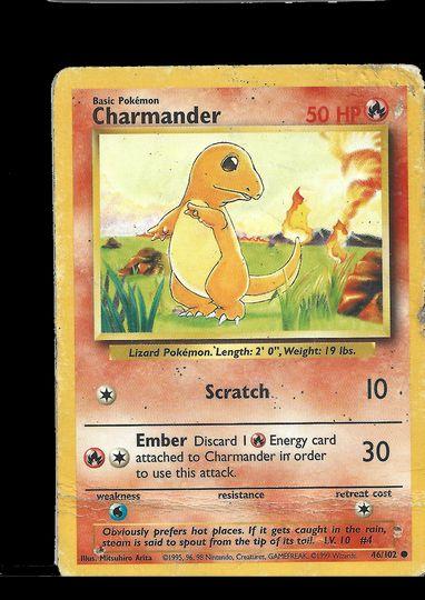 46/102 Charmander Base Set Common Played Item Image