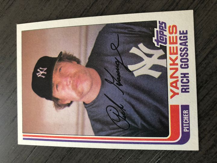 1982 TOPPS RICH GOSSAGE 770 Item Image