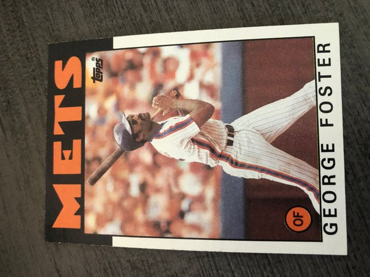 1986 TOPPS GEORGE FOSTER 680 Item Image